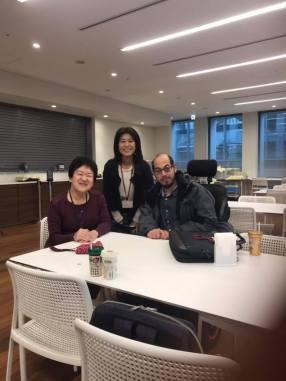 Meeting with Masako Okuhira and Emiko Tanaka at the Sasakawa Peace Foundation